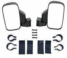 "2Pcs UTV ATV Rear View Mirror Side Mirrors Set 1.75"" 2"" Roll Bar For Polaris RZR"