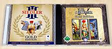 2 PC SPIELE SAMMLUNG DIE SIEDLER III IV GOLD EDITION 3 4