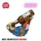 Beer Buddy Tropical Parrot Bottle Holder Statue Luau table Patio Tiki Bar Decor