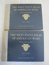 West Point Atlas Of American Wars 2 Vol Dwight D. Eisenhower Scarce 1st Edition
