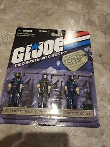"G.I. Joe Cobra 3 Pack ""COBRA INFANTRY TEAM"" ""MOC and Factory Sealed New"""