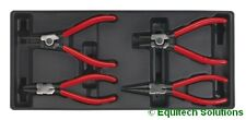 Sealey TBT03 Tool Chest Tray Internal External Circlip Pliers Set Bent Straight