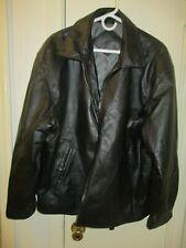 Pre-Owned Large Black Genuine Leather Junction West Men's Jacket!
