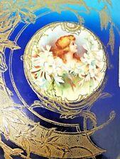 Antique PHOTO ALBUM Lilies Lady VICTORIAN