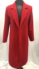 Ladies Buttonless Red Winter Coat UK L