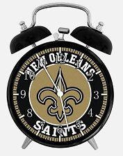 "New Orleans Saints Alarm Desk Clock 3.75"" Home or Office Decor E441 Nice Gift"