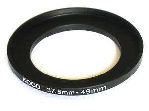 STEP UP ADAPTER 37.5MM-49MM STEPPING RING 37.5MM TO 49MM 37.5-49 FILTER ADAPTER