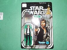 1977 Vintage Star Wars 12 Back Style A Han Solo (Small Head) (Unpunched)! Beauty