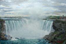 Niagara Falls,Horseshoe Falls, Painting, giclee art print on canvas by Star