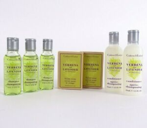 Crabtree & Evelyn Travel Toiletries 10 Piece Set~ Verbena & Lavender Gift Set