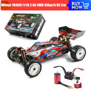 Wltoys 104001 1/10 2.4G 4WD 45km/h RC Car Metal Off-Road Car Brushless Motor NEW