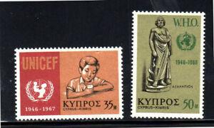CYPRUS #317-318  1968  UNICEF    MINT  VF NH  O.G