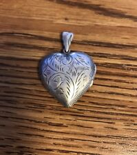Sterling Silver Heart Locket Pendant Stamped LEX 925