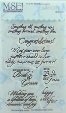 NEW! My Sentiments Exactly! Clear Stamps Y212 Wedding Innies & Outies