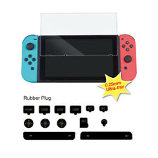 Tempered Glass Screen Protector Film Dust Proof Plug for Nintendo Switch New
