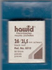 100 Hawid Stamp Mounts 26x22 (21.5) Protection Black 2 Packs of 50 Free USA S&H