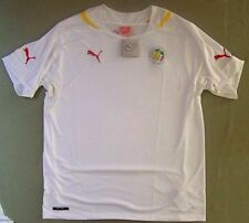 Puma $80 Authentic World Cup Soccer Jersey Africa Senegal white w/sewn logo XL