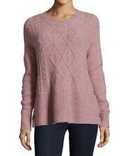 JohnPaulRichard Women's Sweater Pink Size Medium PM Petite Side Button $44 #088