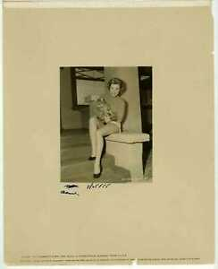My Sister Eileen 1955 Original Photo - Adelle August on the set with cat
