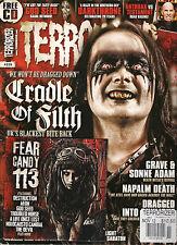 TERRORIZER UK 229 November 2012 CRADLE of FILTH Swans God Seed Napalm Death + CD