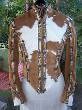 $2000~Stunning Custom Western Pleasure Cow Hair Onyx Concho Jacket~Show Season