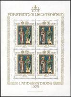 LIECHTENSTEIN 1979, MiNr. 734, Kleinbogen, tadellos postfrisch, Mi. 100,-