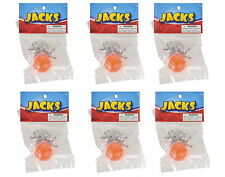 6 SETS OF STEEL METAL JACKS WITH RUBBER SUPER BALL, CLASSIC KIDS TOY FREE SHIP