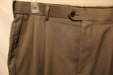 Men's Meeting Street Pleated Pants 36x34 Brown Houndstooth Pleat Polyester Blend