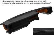 BLACK STITCH DASH DASHBOARD LEATHER SKIN COVER FITS JAGUAR XJ40 XJ6 SOVEREIGN