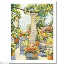 """BEHRENS""""CAPRI PATIO"""" S/N  NEW LIMITED EDITION EMBELLISHED GICLEE/CANVAS WITH COA"""