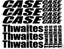 Sticker decal set fits Case or Thwaites mini diggers