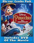 Pinocchio (Blu-ray/DVD, 2009, 3-Disc Set, 70th Anniversary Platinum Edition)