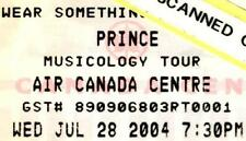Prince Musicology 2004 Tour Concert Full Ticket ACC Toronto