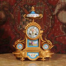 Impresionante Japy Freres Sevres Porcelana & Dorado Metal Reloj ~ Amor