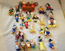 Vintage Disney lot of 25 figures snow white Mickey Donald Duck Duck Tails Goofy