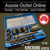 "Kincrome Professional Quality 47 Piece 1/2"" Impact Socket Set - AOO NSW"