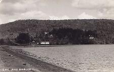 Lac-aux-Sables MAURICIE Quebec Canada 1940s Carte Postale Photo P.E. Duplain