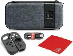 PDP Nintendo Switch Starter Kit Case, Grip, Cable, Cleaning Cloth Elite Edition