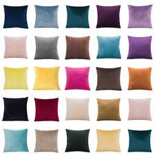 "Plain Large Velvet Cushion Cover Pillow Case Home Sofa Decor 16"" 18"" 20"" 22"" 24"""
