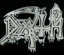 DEATH DEATH METAL BLACK CANVAS BACK PATCH