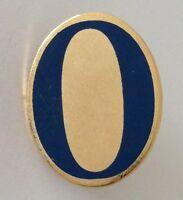 Zero Letter O Pin Badge Rare Vintage (J3)