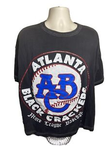 Vintage Atlanta Black Crackers Negro League T Shirt Men's Size XL Black