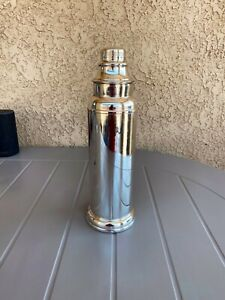 Art deco sheffield Silver Plate Skyscraper Cocktail Shaker