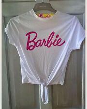 Primark Ladies BARBIE T Shirt Cropped Tie Tee Top