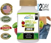 Apple Cider Vinegar Capsules Extra Strength Weight Fat Loss organic Diet vinagre