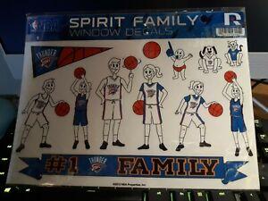 OKLAHOMA CITY THUNDER NBA SPIRIT FAMILY WINDOW DECALS #1 THUNDER FAMILY 2012 NBA