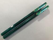 Pentel Hybrid 1.0mm Dual Metallic liquid gel pen -Green+Metallic Blue x 2 pcs