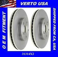 Verto USA Set Of Disc Brake Rotor-  Front  31314X2 Cross Cut Non Directional