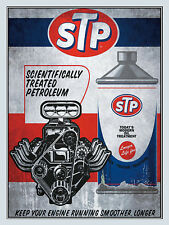 STP, Retro metal Aluminium Sign vintage / man cave / Garage