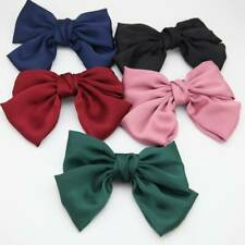 Trendy Silk Bow Barrettes Hair Clip Women Big Bowknot Hair Clips Hair Accessory